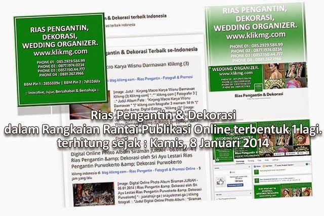 Rias Pengantin & Dekorasi dalam Rangkaian Rantai Publikasi Online terbentuk 1 lagi.