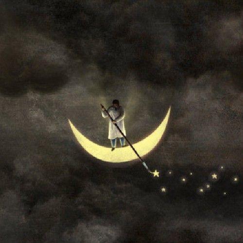 vosegus:gilsoncos:Quem perde o telhado, ganha as estrelas! Star sower Petit: a lovely image to take with me to sleep … g'night...