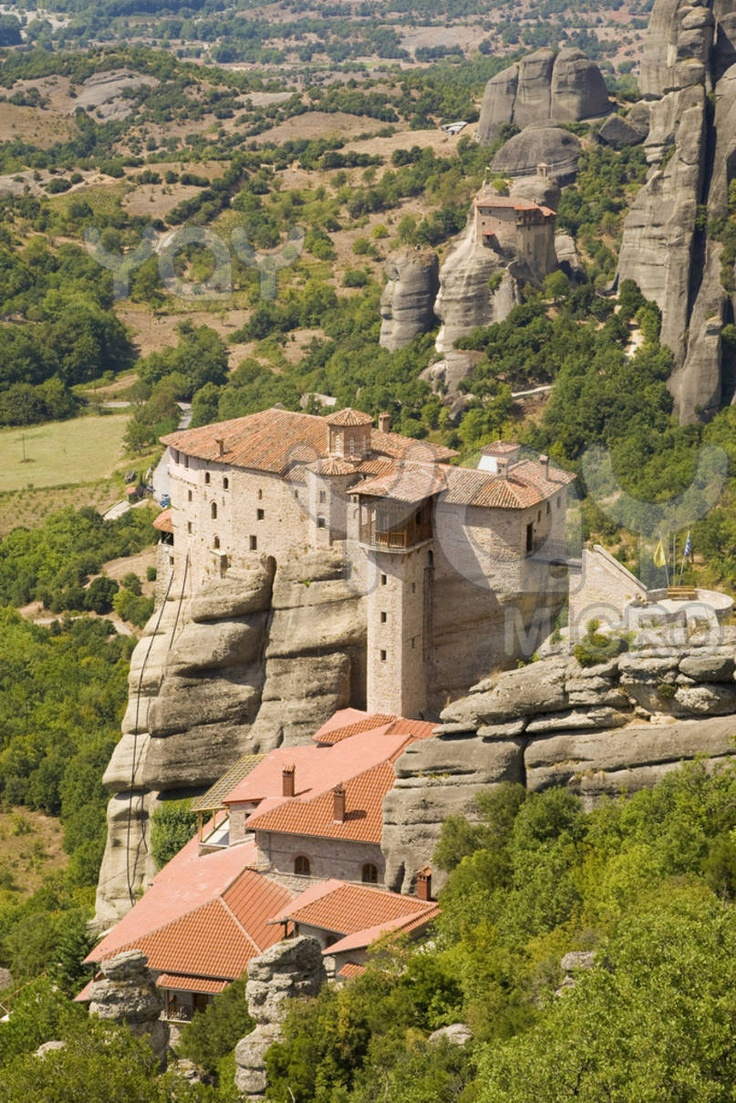 "The Meteora (""suspended rocks"", ""suspended in the air"" or ""in the heavens above"") is one of the largest and most important complexes of Eastern Orthodox monasteries in Greece."
