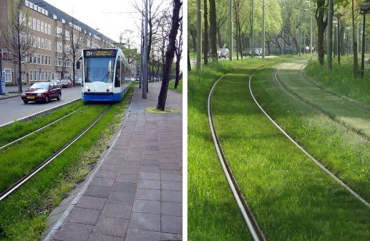 PHOTOS: Europe's Grass-Lined Green Railways = Good Urban Design   Inhabitat - Sustainable Design Innovation, Eco Architecture, Green Buildin...