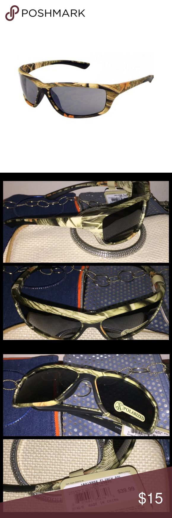 Field n Stream Men's Hunting Polarized Sunglasses Field & Stream By Foster Grant Polarized Full Rim Sport Wrap Sunglasses  Perfect for hunting n sports, Reduces glare for great visibility Model - Flinch Color - Camouflage $40  100% UVA n UVB protection Eye Size 53 Bridge/Temple Size 16/125   💯Brand new HIGH QUALITY 💯What u see is what u get ⚡Next day ship⚡ ✔Offers welcome on items $13+ 🚫No Trades 💖Just got💍engaged 💍 5-21 - 3yrs Long distance, we r working Very hard to be together…