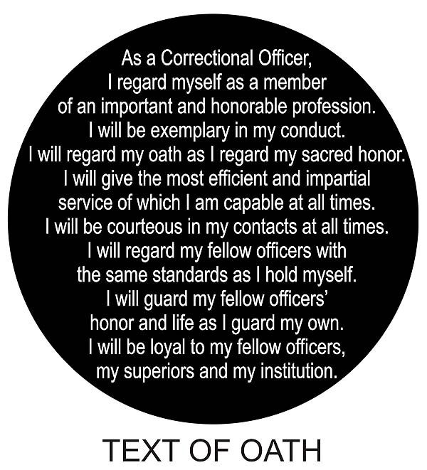 Correctional Officer Prayers and Poems | Correction Officer's Oath Challenge Coin
