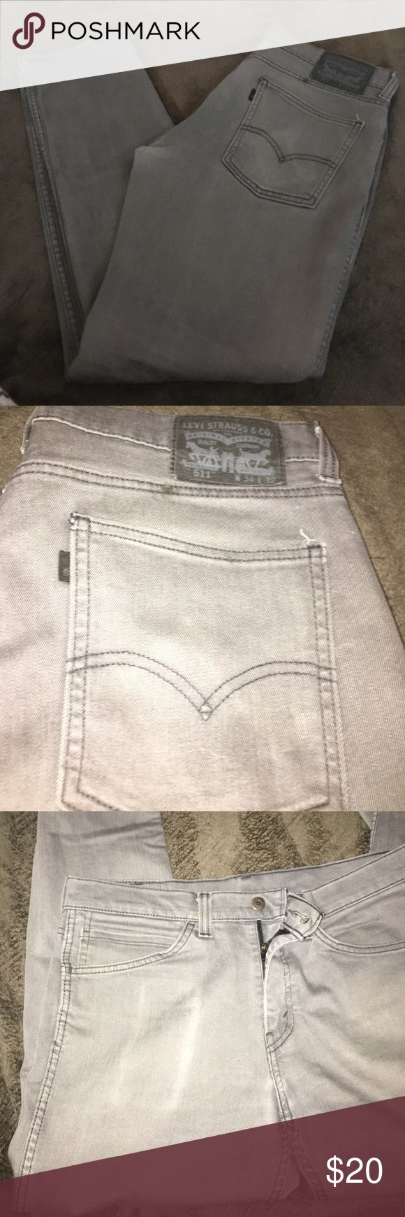 Levi Jeans Worn, pocket has imprint of iPhone (photo) other than that there is no flaws!  511s, w. 34 L 32 Levi's Jeans Straight