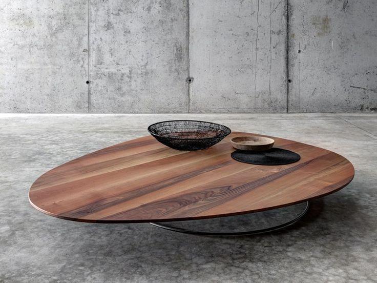 Mesita baja de madera para salón SOGLIO by FIORONI diseño act romegialli