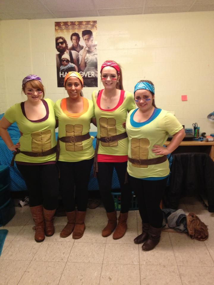 Girl Group Costume Idea Ninja Turtles Yes  sc 1 st  Meningrey & Halloween Costume Ideas College Girls - Meningrey