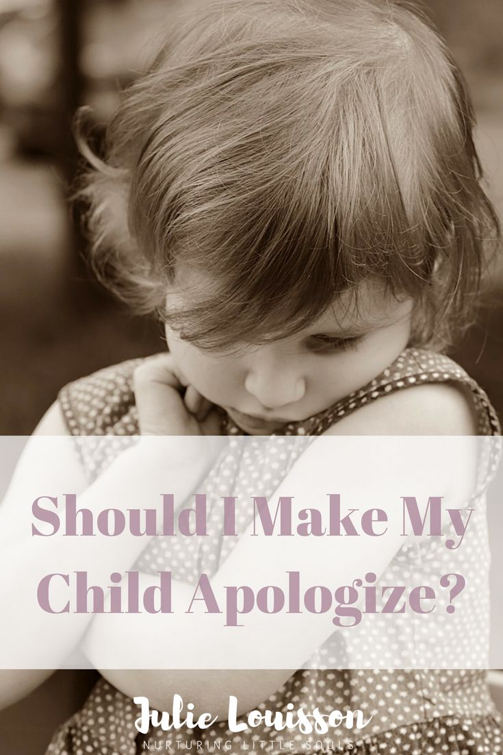 Children apologizing - is making our children apologize when they're not ready to really the best thing to do? #julielouisson #spiritualparenting #apologize #parenting