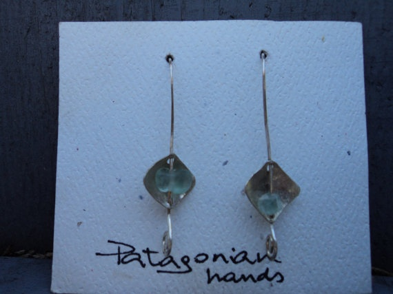 Handmade .950 Silver Earrings by PatagonianHands on Etsy, $20.00