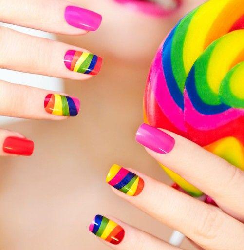 Nail Art For Beginners - Rainbow Nail Art
