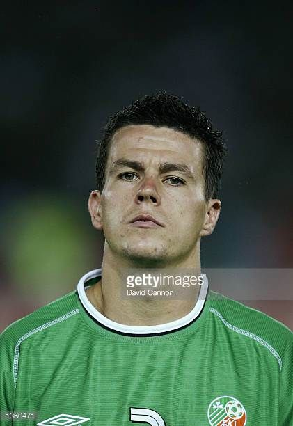 Portrait of Ian Harte of the Republic of Ireland before the FIFA World Cup Finals 2002 Group E match between Republic of Ireland and Saudi Arabia...