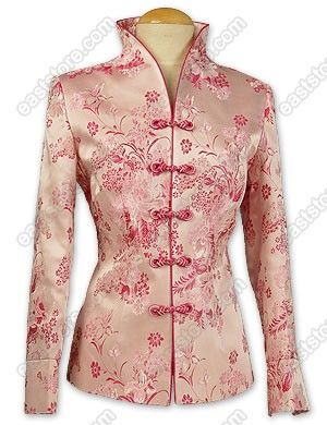 Prosperous Peony Patterned Brocade Jacket : EastStore.com
