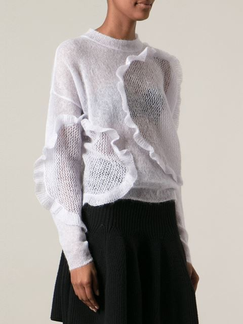 Chloé Ruffled Panel Sweater - Stefania Mode - Farfetch.com