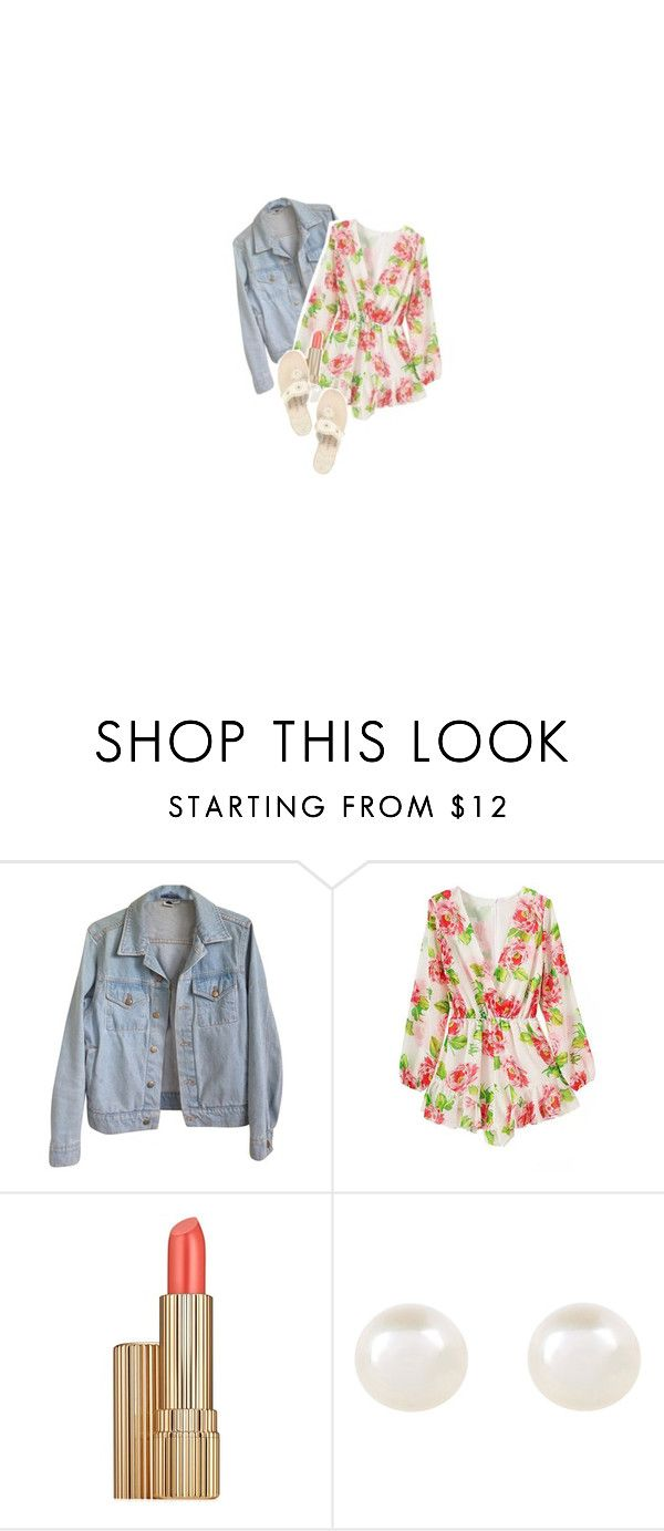 I want to be your left hand man by look-so-perfect on Polyvore featuring American Apparel, Jack Rogers, Accessorize, Estée Lauder, floralprint, summer2015 and Riptide
