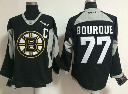 "$34.88 at ""MaryJersey""(maryjerseyelway@gmail.com) Bruins 77 Ray Bourque Black Practice Stitched NHL Jersey"
