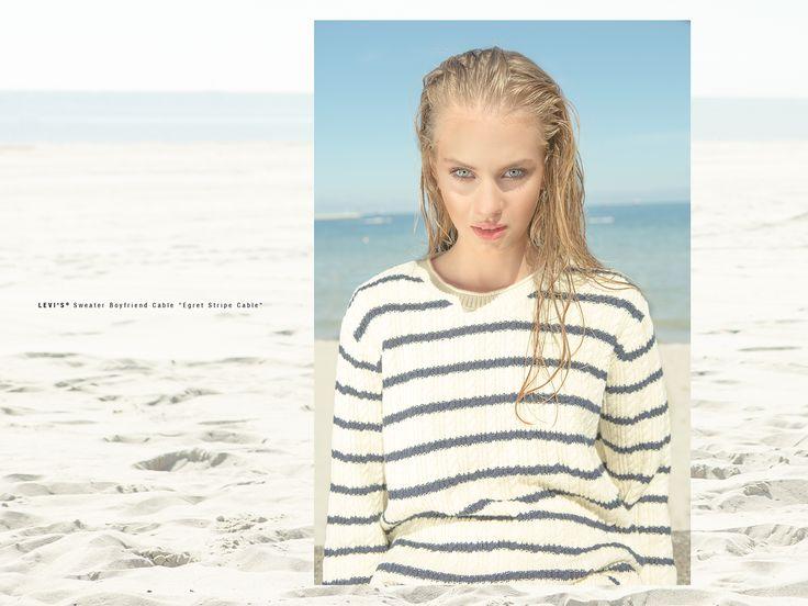 #summer #lookbook #ss15 #women #womencollection #sweatshirt #shorts #stripes #trainers #levis #liveinlevis #boyfriend