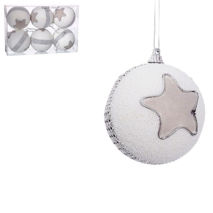 Sada 6 vánočních baněk s hvězdou Unimasa