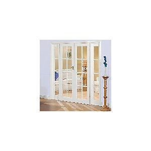 Wickes Newland Internal French Doors with Demi Panel Pine Glazed 8 Lite 2007 x 1896mm