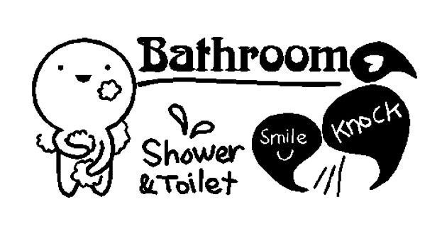 Toilet Shower Smile Knock Bathroom Wall Decal Quote Sticker Fun Waterproof DIY #Solidcolor