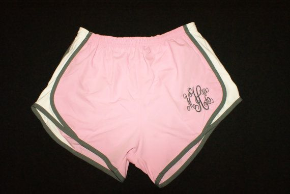 Bride and Bridemaid Gift Monogrammed Shorts by TheFlowerFairyShop, $19.00