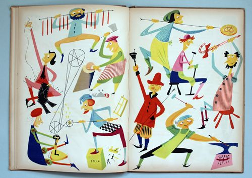 My Vintage Avenue !!! 50's and 60's illustrations !!!: Den Store Quillow illustrated by Olle Eksell, 1949 !!!
