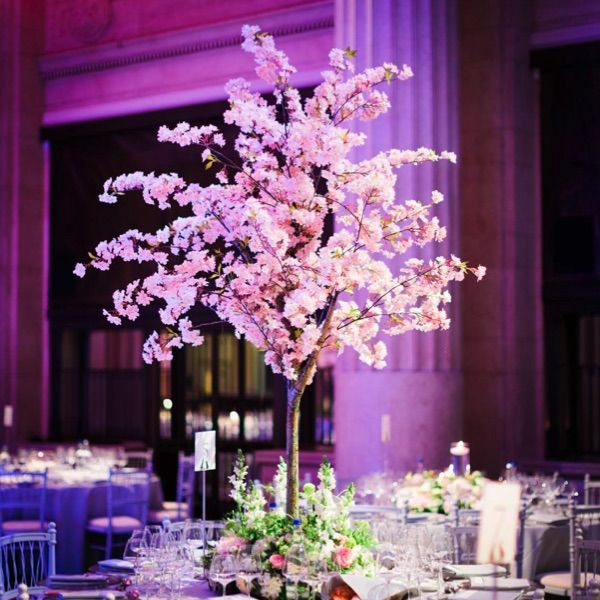 Gorgeous Tree Table Centrepiece Ideas Wedding Table Decorations Tree Instagram Amie Blossom Tree Wedding Cherry Blossom Wedding Cherry Blossom Centerpiece