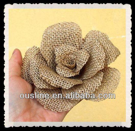 Artesanais Decorativas flores de juta-Rústico Decoração de ...