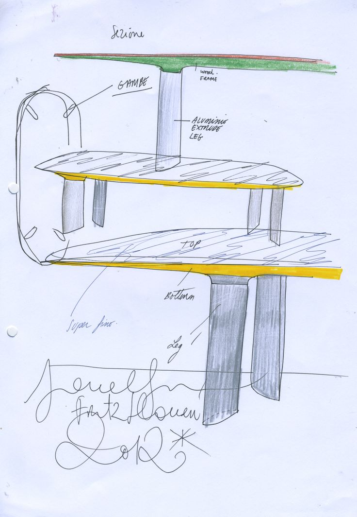 Sketch by Jaime Hayon of the Analog™ table