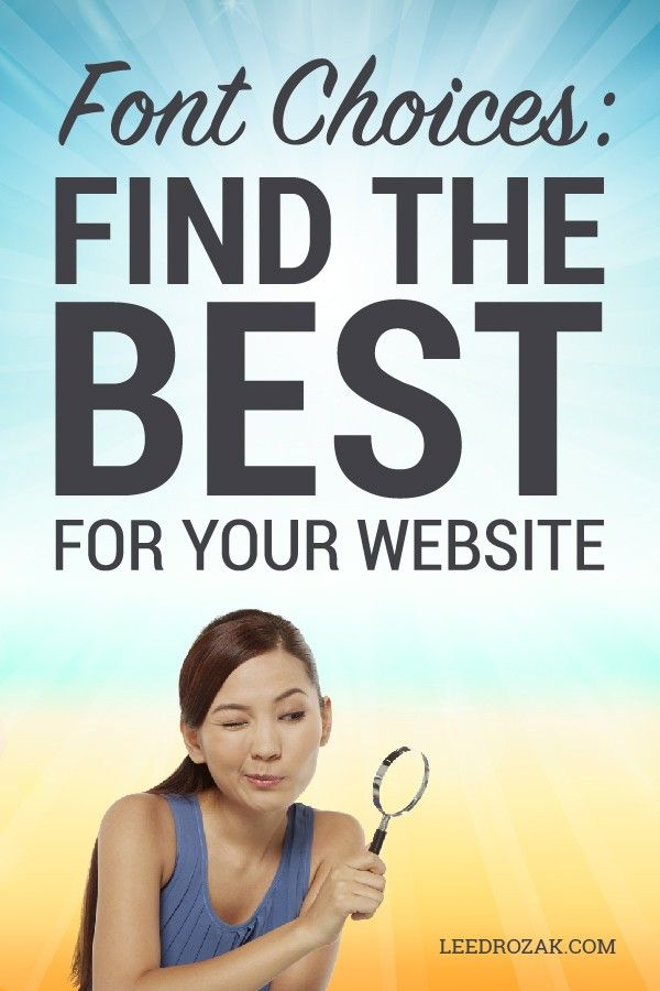 Find The Best Font For Your Website