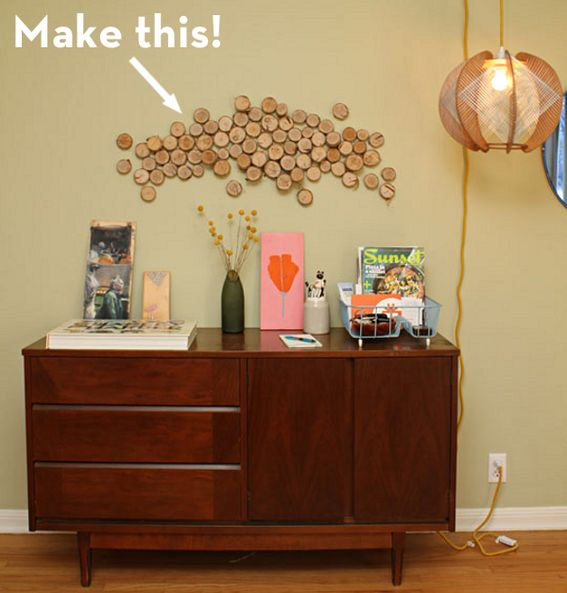A DIY for turning coins of wood into an artfully abstract decor accent.