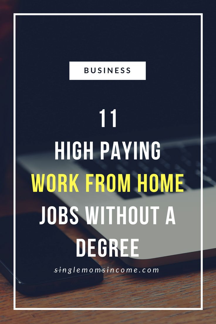 11 High Paying Work From Home Jobs without a Degree