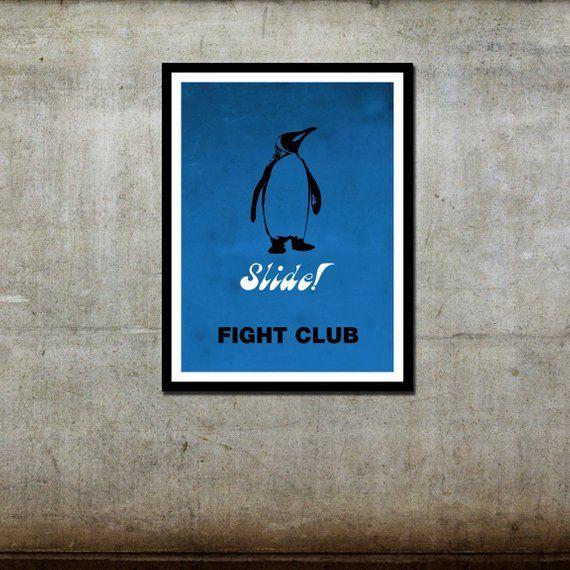 Penguin 'Slide' – Fight Club Inspired – Movie Art Poster
