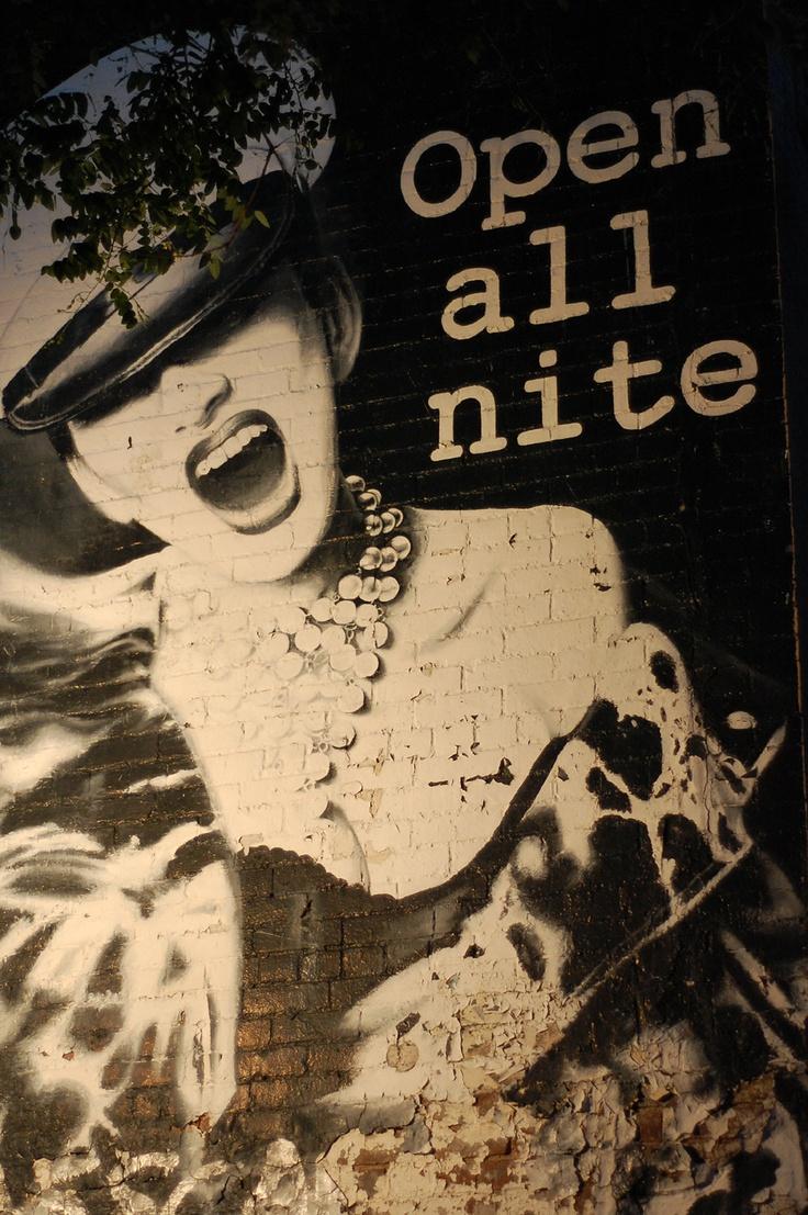 Cafe Yaffa wall graffiti at St Marks NYC