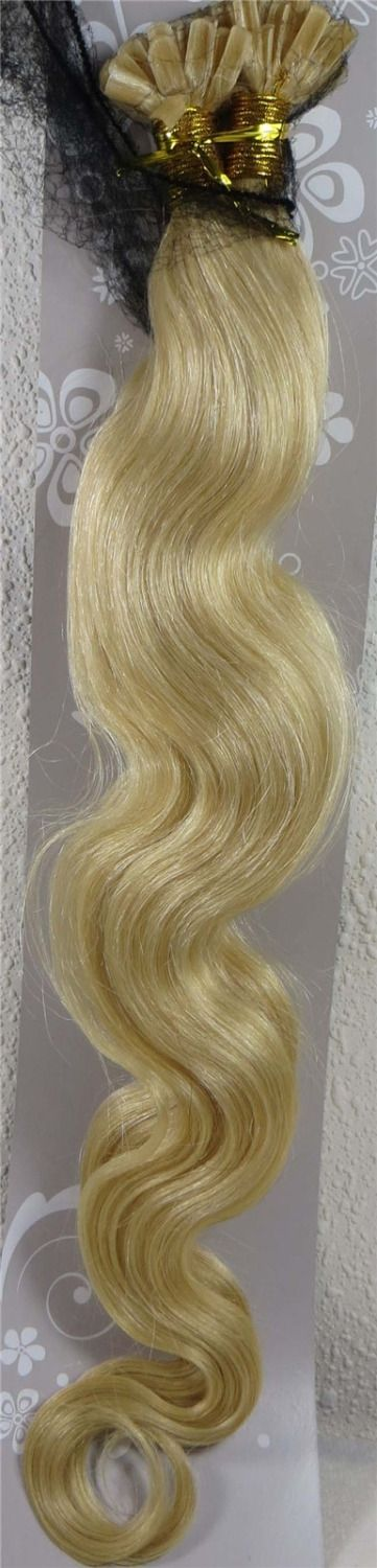 """58.14$  Watch here - http://alig6x.worldwells.pw/go.php?t=32299439895 - """"Wholesale Indian 26"""""""" Women Remy Keratin Nail Tip U tip Human Hair Extensions Body Wavy 1g/s 100s Light Blonde #613"""""""