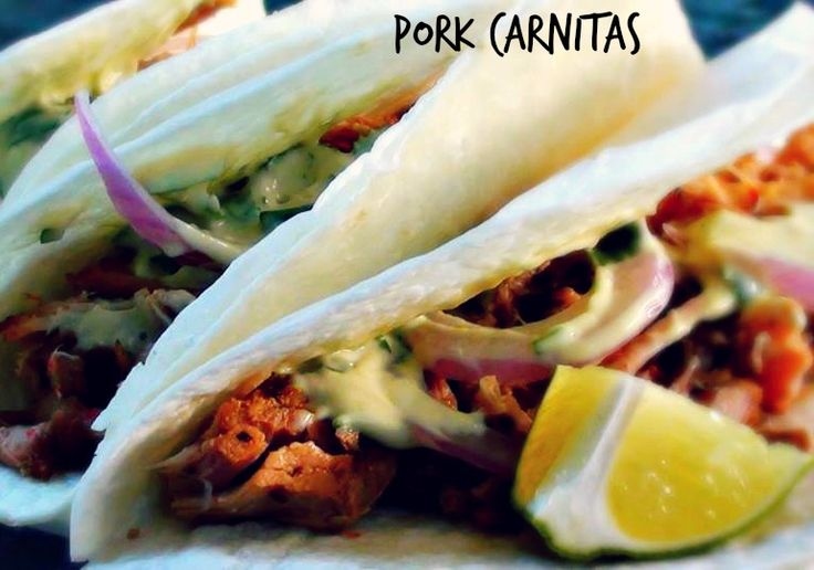 #Pork #Carnitas done in the #SlowCooker is the perfect thing to come home to after a long day at the beach!
