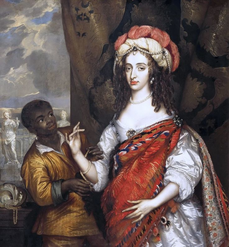 Ханнеман, Адриан - Посмертный портрет Марии Стюарт (1631-1660) со слугой. Маурицхёйс, Гаага
