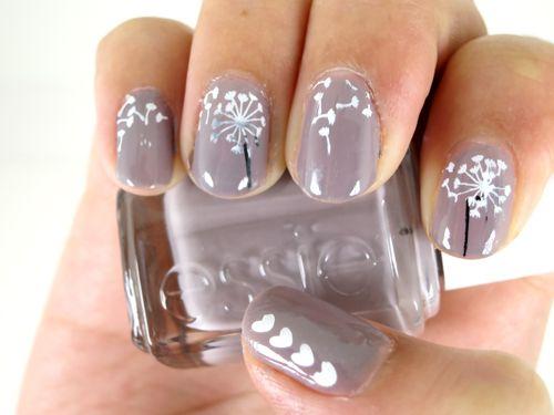 Dandelion Nail Art Essie Chinchilly Photo