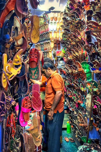 New Delhi Bazaar, India