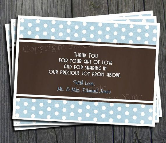 Baby Shower Thank You Card Different Designs A Must Have For