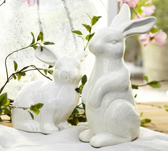 Pottery Barn Easter Ceramic Bunnies
