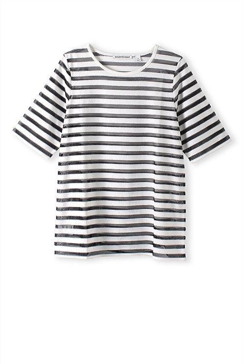 Sheer Solid Panel T-Shirt, looks good with the shorts