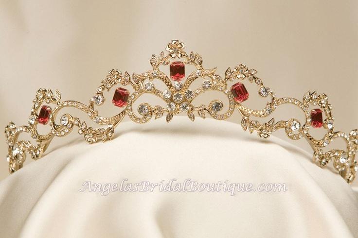 Garnet and gold tiara