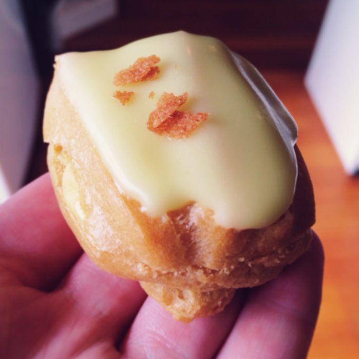 mini lemon curd eclair by creative hunger