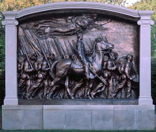 """The statue described by Robert Lowell in """"For the Union Dead"""""""