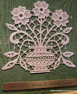 Italian Needle Lace free patterns.