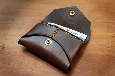Pierce card/coin case
