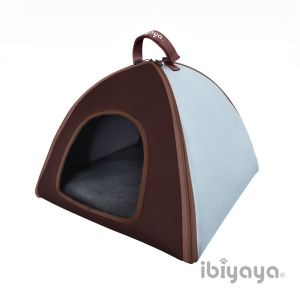IBIYAYA Pet Bed Pet Little tent bed- Blue. Easy to fold. Foldable.