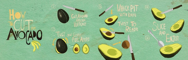 Avocado Book by Lauren Hom, via Behance