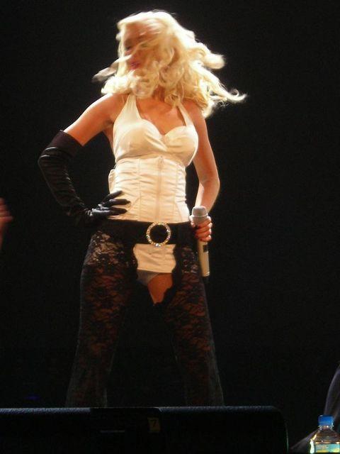 Christina Aguilera on stage