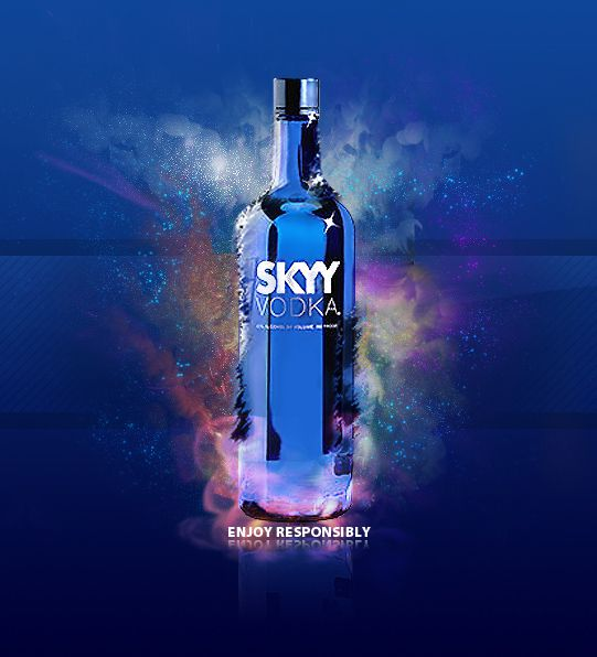 Skyy Vodka redesign by ~nightfighter on deviantART.  If I had a dime for all the blue skyy bottles in my storage shed ;-)