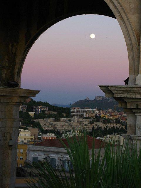 Bastione San Remy, Cagliari, Sardegna, Italia
