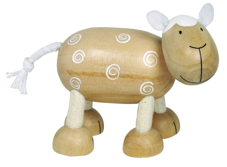Natural and high quality toys to the development of the skills of children. Sheep Emma is also around me.